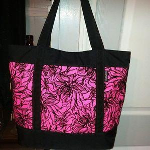 """Jansport """"Emma""""Hot Pink & Black Tote Bag"""